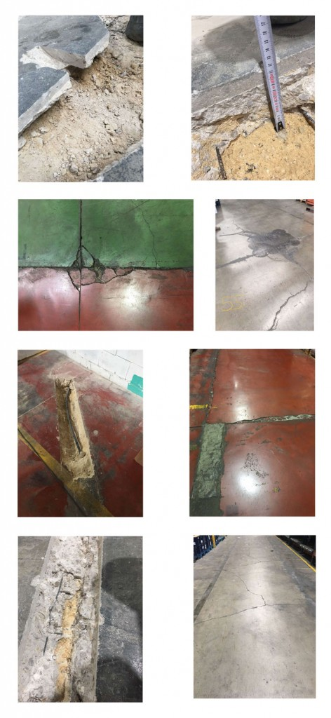 distintos tipos de fisuras en pavimentos de hormigón